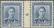 NZ Counter Coil Pair SG609 1938-44 3d King George VI Join No. 6 (NCC/341)